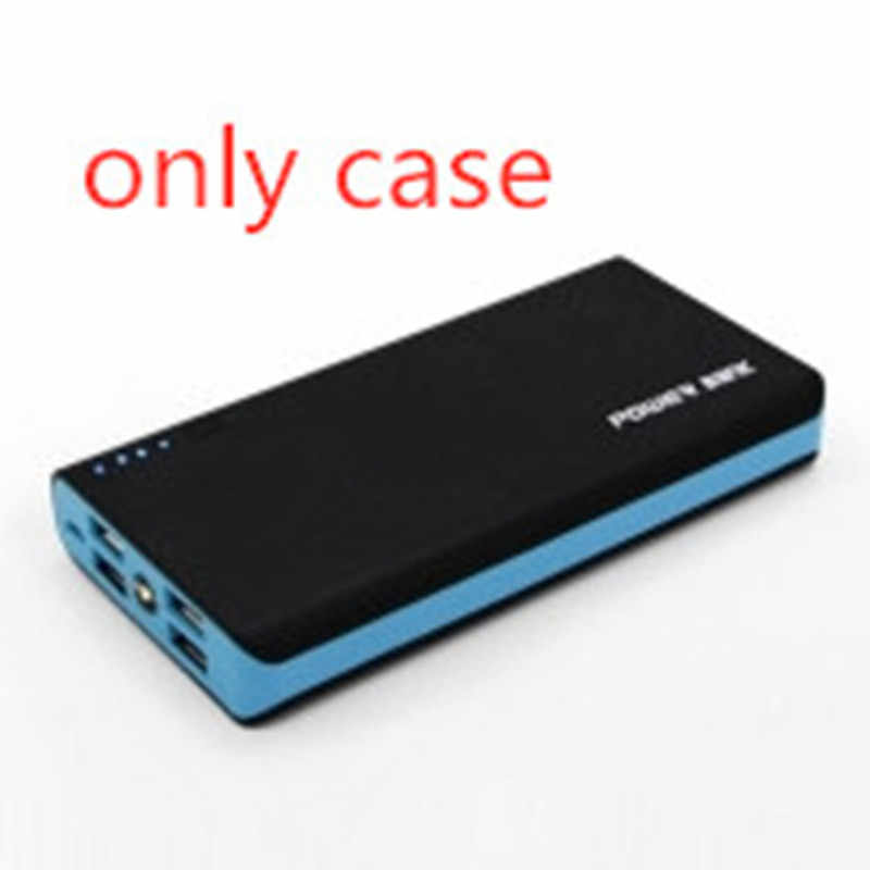 4-USB Outputs Power Bank Case DIY Kit Portable External Battery Charger Housing Mobile Power Box With LED Light Without Battery