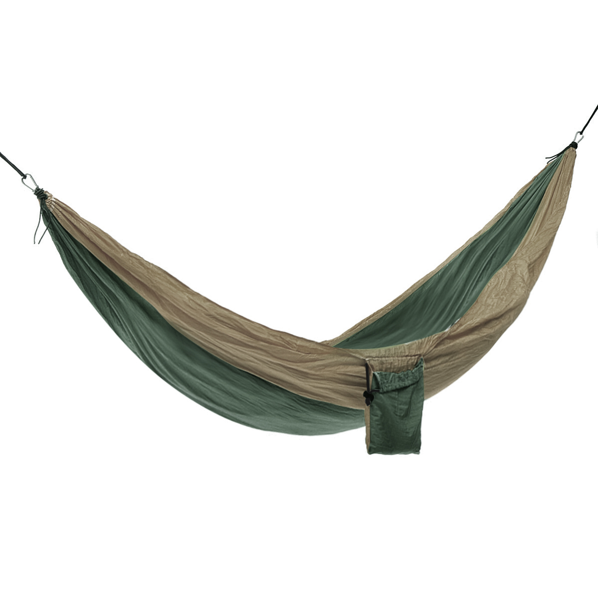 Double Camping Parachute Hammocks Survival Garden Outdoor Furniture Leisure Sleeping Bed Travel Hammocks With 2 Straps 2 Carabin