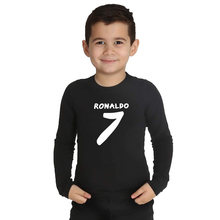 LYTLM Ronaldo 7 Long Sleeve Baby Boy Shirts Boys T Shirts Baby Kleding Meisje Boys Tops Fall 2019 Kids Clothes Girls 8 to 12(China)