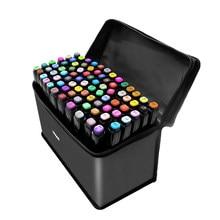 Toque cinco 80 cores marcadores de álcool duplo headed esboço tinta oleosa caneta marcador para animação manga desenho canetas arte suprimentos
