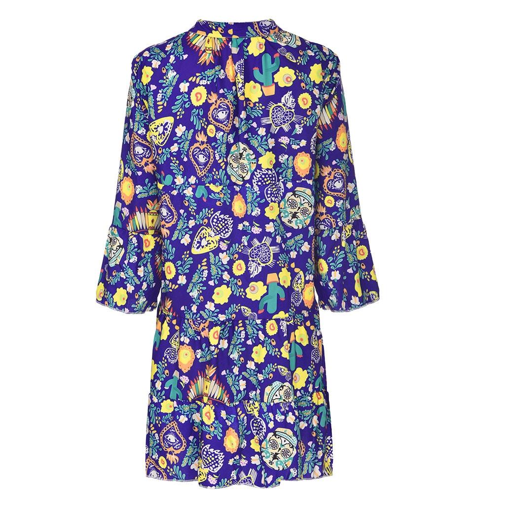 Ha4cd0035aa1041068d284a92b0383ac7e Spring Autumn Women Dress Plus Size 5XL Loose Print Long Sleeve V-Collar Button Party Dresses Casual Loose Women Dresses 2019