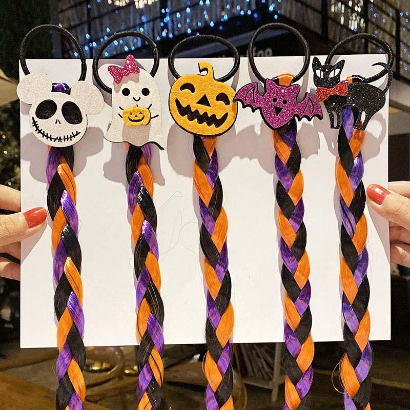 Cn 7 шт/лот парик на Хэллоуин косичка эластичные повязки для