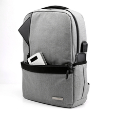 MoneRffi Slim Laptop Backpack Men Office Work Business Bag Unisex Black Ultralight Thin Back Pack