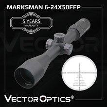 Optyka wektorowa Marksman 6-24x50 FFP taktyczna luneta celownicza 1/10 MIL Min. Ostrość 10yds pierwszy celownik myśliwski. 338 okrążeń