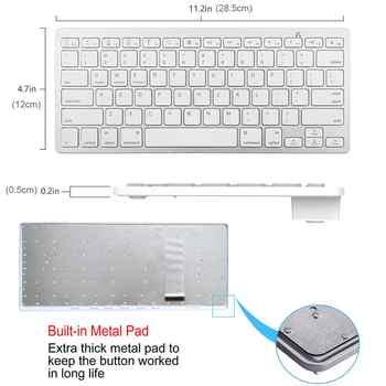 Multi-Lingual Universal Wireless Bluetooth Keyboard Ultra Slim Wireless Keyboard Compatible for iOS iPad Android Tablets Windows