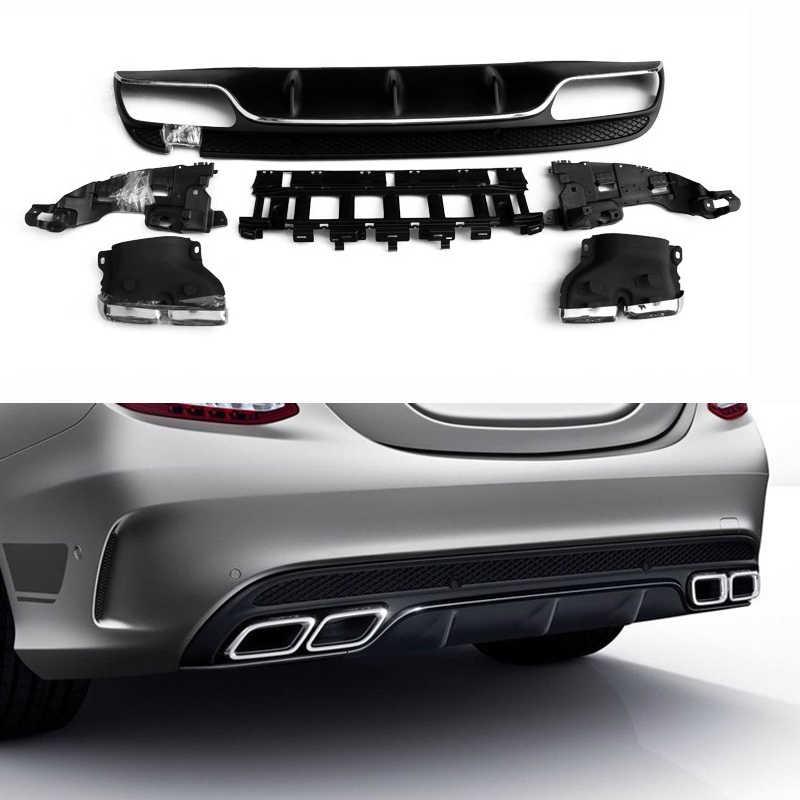 Lame de pare-choc arrière de voiture, accessoire de voiture, Mercedes Benz classe C W205 4 portes Sport C200 C250 C300 C350 C400 C43, 2015-2018