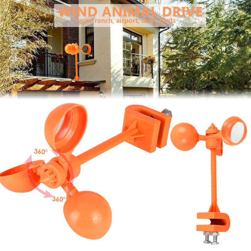 Drive Away Bird Device 360° Lawns Garden Pest Bird Scarer Creative Wind Power Pigeon Crop Bird Repeller Tools Crow Outdoors