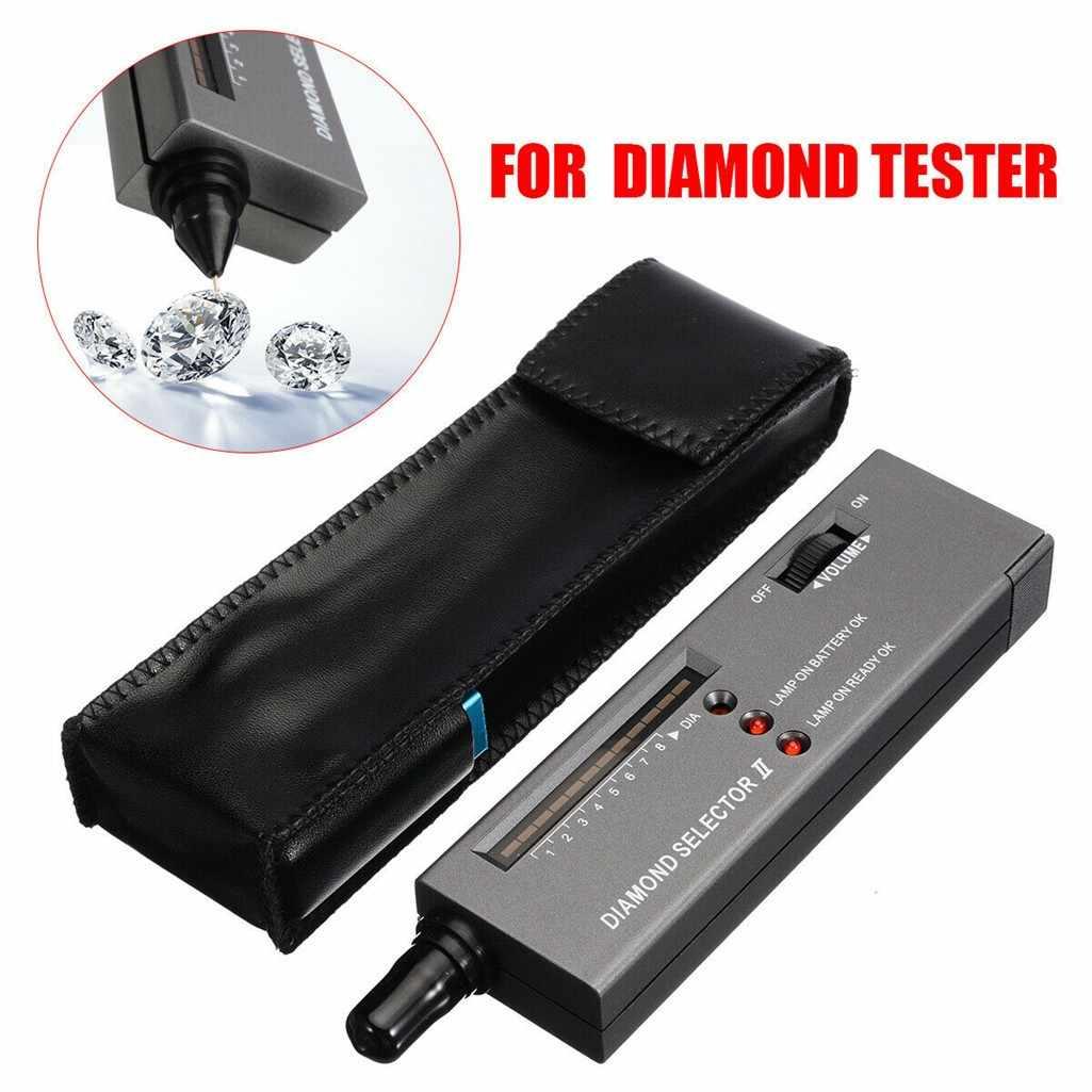 Tester de diamantes portátil Selector con el caso de piedras preciosas plataforma joyero herramienta Herramientas Набор Инструментов