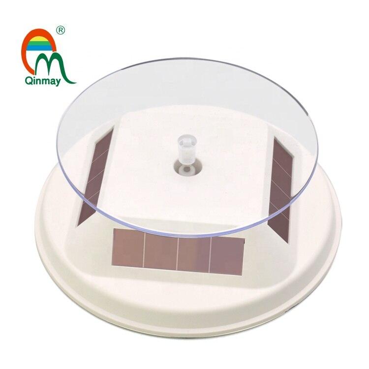 Solar Betrieben Rotierenden Telefon Zubehör Display-ständer Plattenspieler 12cm