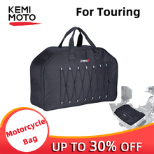 KEMiMOTO Motorbike oxford fabric Rear Saddlebag Tour Pack Soft Liner Bag Removable Trips Overnighters For Touring Electra Glide