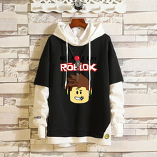 Hot Sale High Quality Men's Casual Hoodies Fashion Stitching Fake Two piece Sweatshirt mens Spring and autumn clothes
