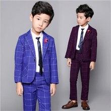 Yinglun/модный клетчатый костюм в стиле колледжа для мальчиков средней школы