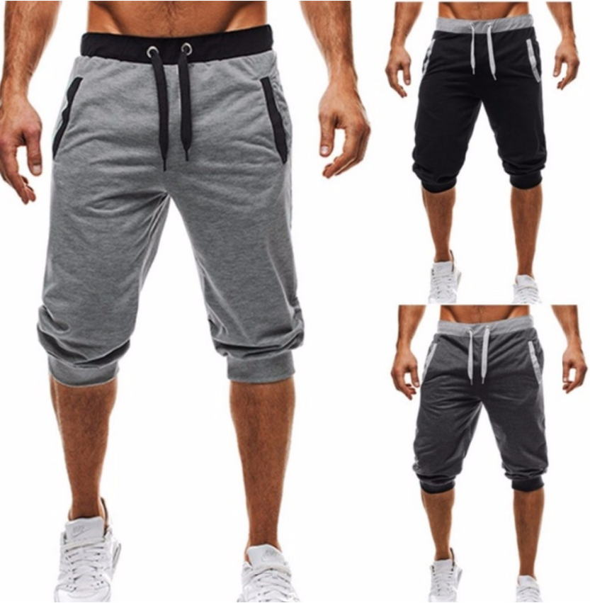 Pantalones cortos para hombre 2020, pantalones cortos informales para correr, pantalones cortos 3/4, ropa de Fitness corta, pantalones cortos para hombres, ropa de verano para hombres