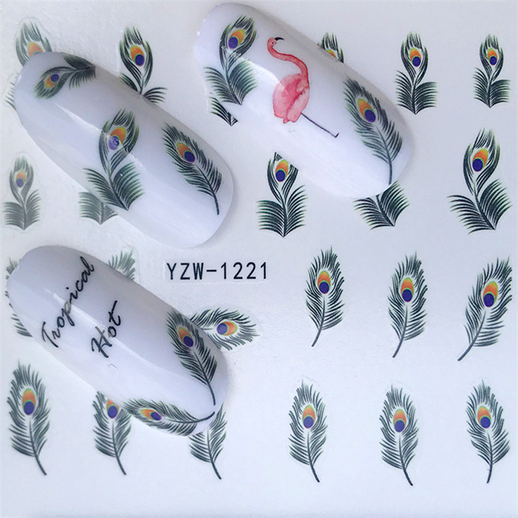 New Style Nail Sticker South Korea Hipster Cat 3D Nail Sticker Water Transfer Yzw Series Adhesive Paper