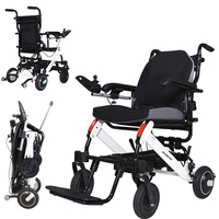 Portable Folding Lightweight Wheelchair Mobility Electric Power For Disabled Old Elderly aluminum alloy