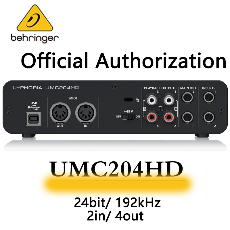 Behringer – carte son UMC204HD, interface audio, enregistrement externe indépendant, pour diffusion en direct Midi, technica m20x