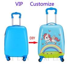 Новые настройки дети тележка камера сумка чемодан sipnner DIY личный настройки мультфильм тележки чехол дети подарок