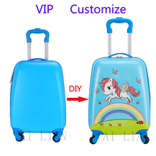 Trolley Case Luggage-Bag Customize Childrens Cartoon Gift DIY Sipnner New