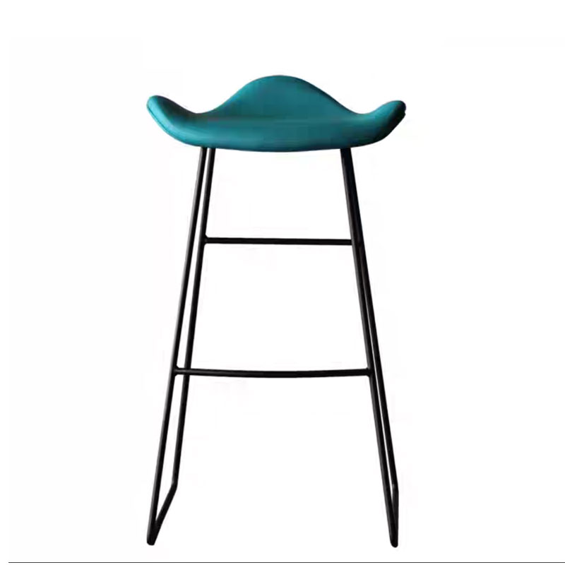 Bar Chair High Foot Modern Simple Personality Fashion Bar Restaurant Bookstore Metal Iron Art Leisure Stool