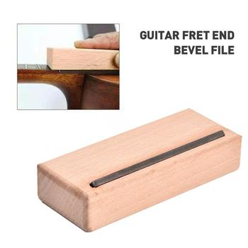 Maple Wood Block Guitar Bass Chamfering Bevel File Cutting Edge Tool Fix Guitarra Fret End Bevel File Guitar Parts Accessories new electric guitar neck maple wood left hand 22 fret 25 5 inch big head stock