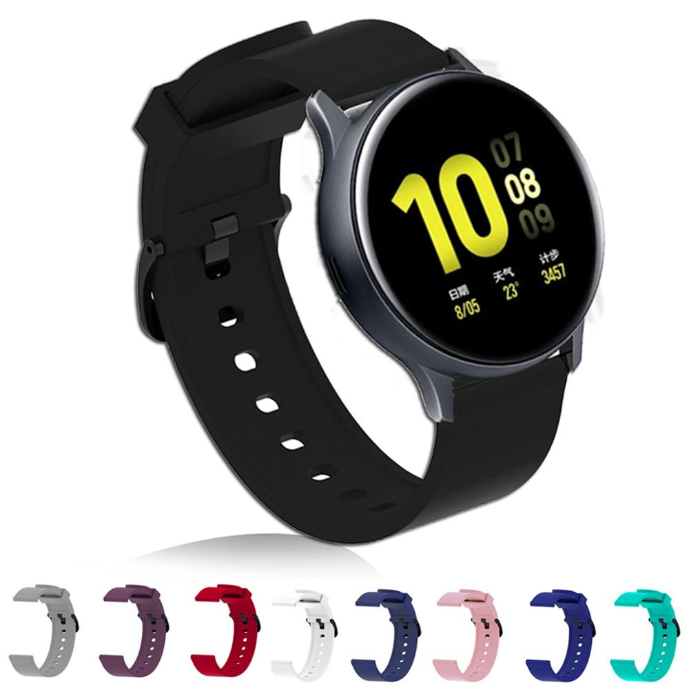 For Samsung Galaxy Watch Active 2 40mm 44mm Watch Band Strap Bracelet Silicone 20mm Watchband For Galaxy 42mm Gear S2 Active2