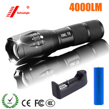XML -T6 Flashlight 10w LED Rechargeable poche linterna AAA Zoomable 4000 lumens 18650 Battery Outdoor Camping Powerful  Torch led flashlight xml t6 linterna torch 5000 lumens outdoor camping powerful led flashlight waterproof 18650 usb charger holder
