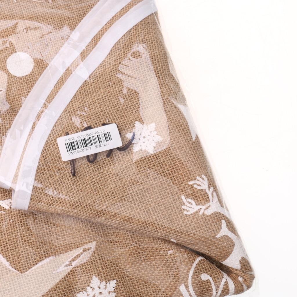 Vintage Burlap Christmas Tree Skirt Stands Xmas Ornament Decor 80/120cm Brown Linen Christmas Tree Skirt Stands Xmas 80/120cm