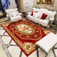 22 europa Estilo Clássico Vermelho Flora Tapete Na Sala de estar do Palácio Real Padrão de Tapetes E Carpetes Para O Quarto de Azul grande Tapete