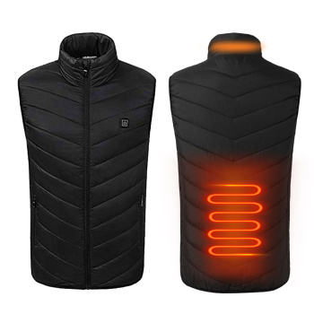 5 Heated Zones USB Heated Vest Washable Electric Heated Jacket Sleeveless Thermal Warm Waistcoat Control Temperature Ski Jacket 9