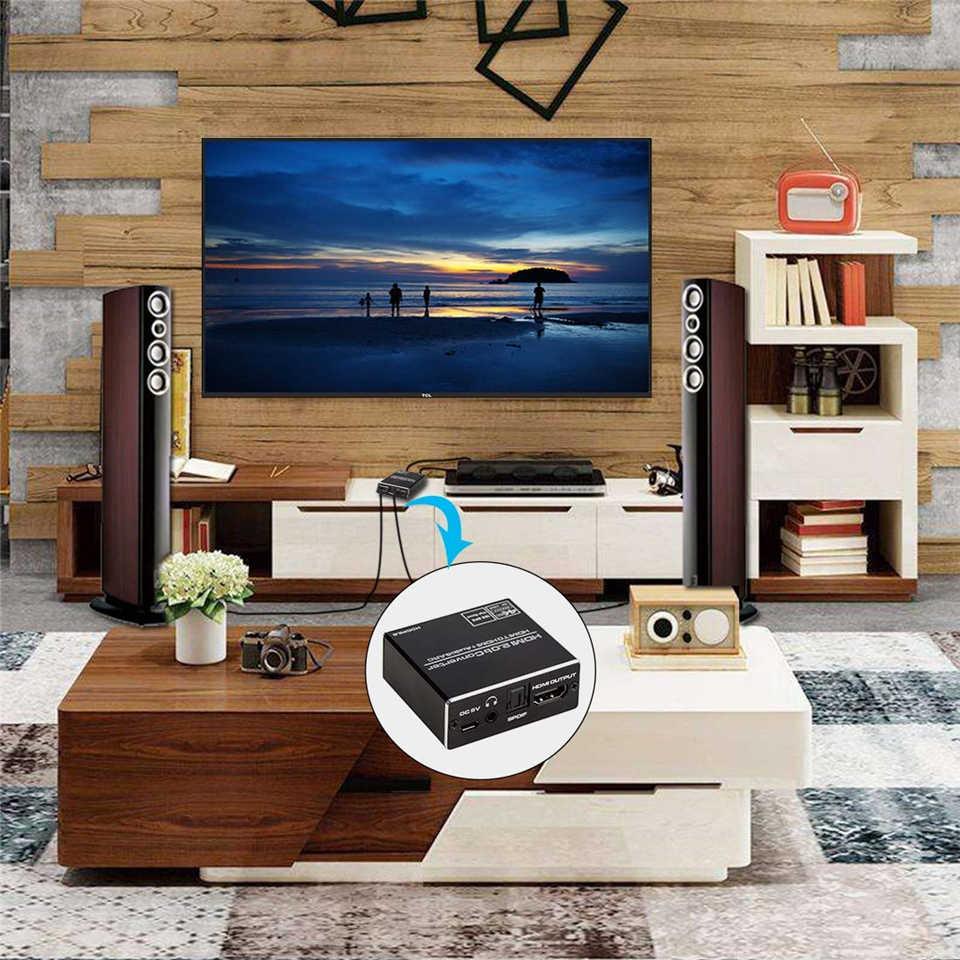 2020 Navceker 4K HDMI 2.0 Audio Extractor 5.1 ARC HDMI Audio Extractor Splitter HDMI Audio Extractor Ottico TOSLINK SPDIF
