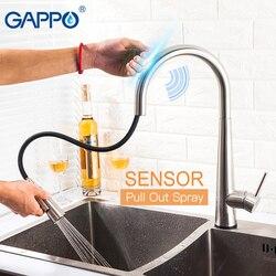 GAPPO Smart Sensor Küche Armaturen pull out Touch Control Edelstahl Küche Mixer Touch Wasserhahn für Küche Waschbecken Wasserhähne