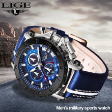 LIGE New Mens Watches Top Brand Luxury Big Dial Military Quartz Watch Leather Waterproof Man Sport Male Clock Relogio Masculino relogio masculino lige mens watches top brand luxury quartz clock male date large dial fashion waterproof military sport watch