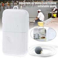 Bomba de aire portátil aireador de pesca cebo vivo oxigenado acuario batería alimentada YS-BUY