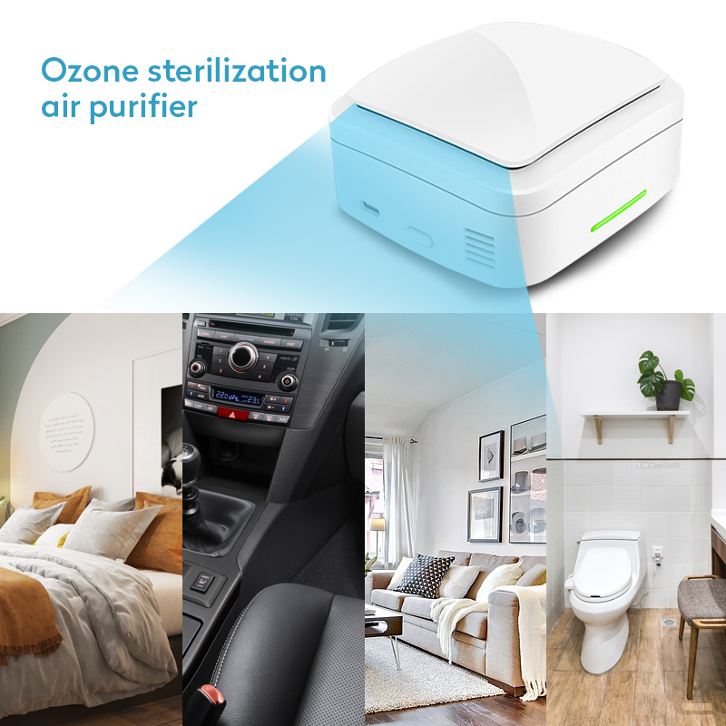 Household Portable Air Sterilizer Air Purifier USB Battery Car Air Ozonizer Air Cleaner Sterilization Formaldehyde Removal
