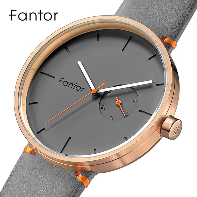 Men's Watch Fantor Top Brand Casual Luxury Quartz Wristwatches Mens Classic Minimalist Waterproof Leather Watches Male Clock