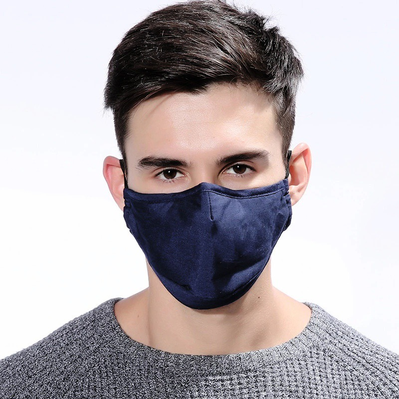 Ha4cf1a33050d4d9692a46449f428150cK 1pcs Reusable Washable Breathable Face Mask Cycling Running Facemask Anti Dust Windproof Air Purifying Face Mask +2 Filter