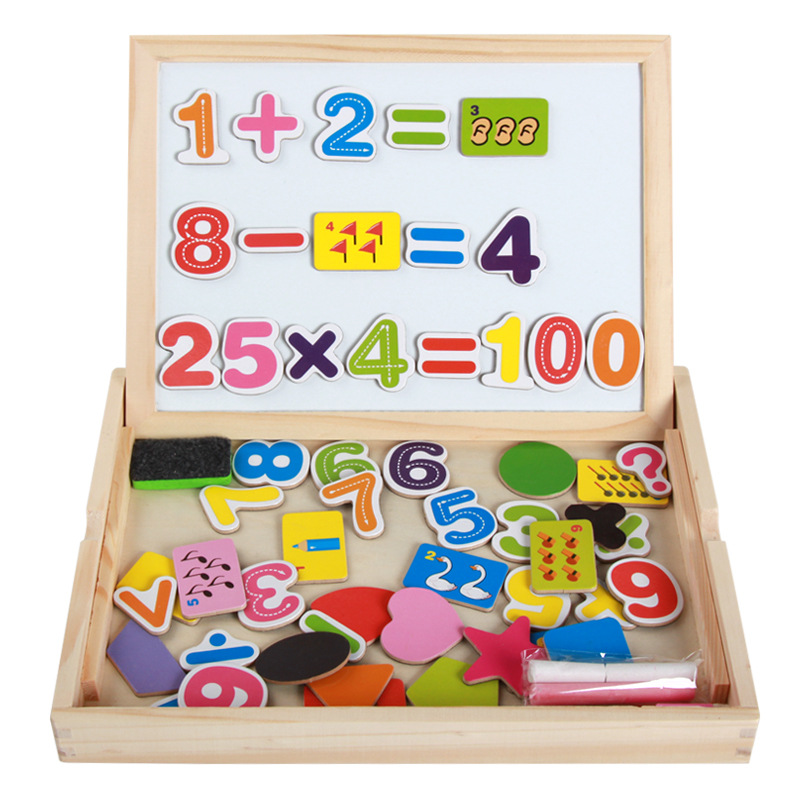 Manufacturers Direct Selling Children Early Childhood Mathematics Shape Double-Sided Sketchpad Magnetic Joypin CHILDREN'S Toy Wh