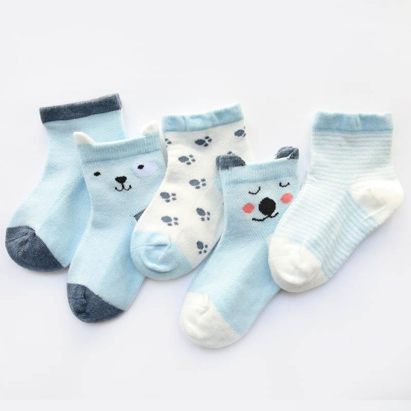 5 pares saco bebe bonito meias primavera 01