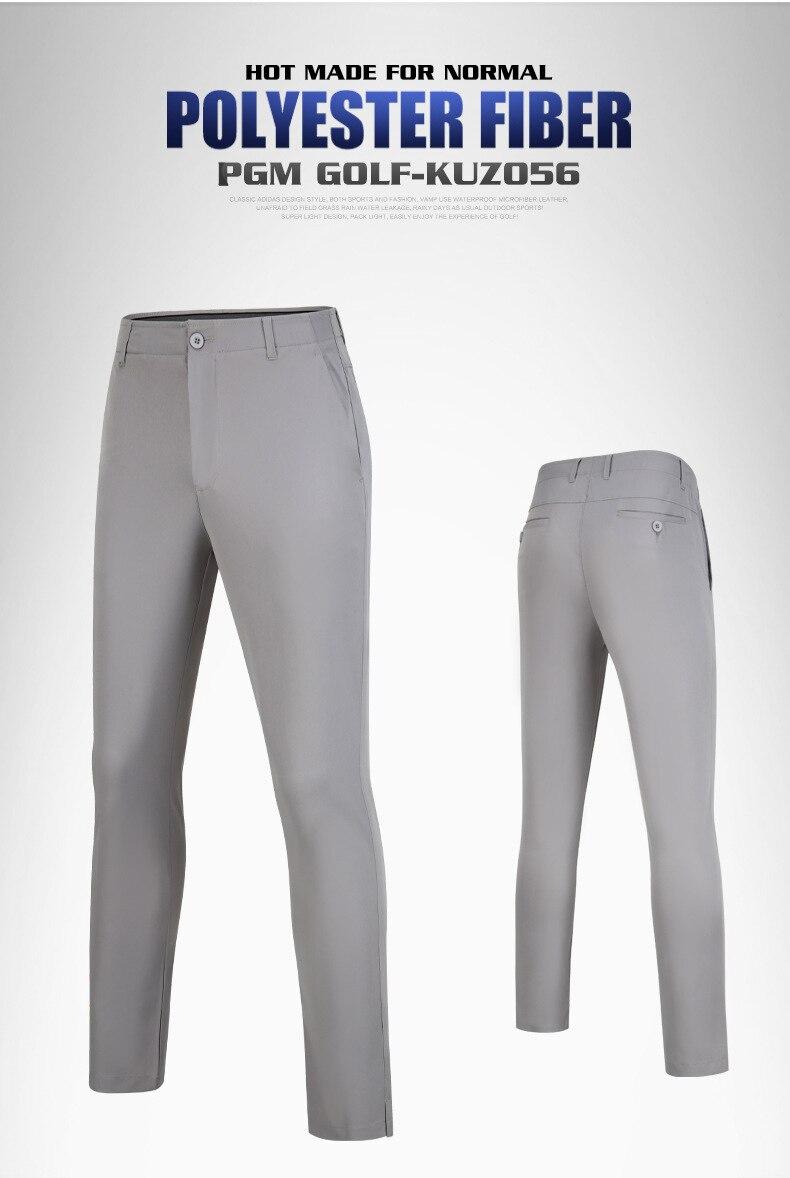 ar livre calças de cintura elástica respirável confortável calças de golfe