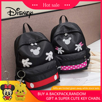 2019 Disney Mickey Minnie Large Capacity Plush Backpacks Mickey Mouse Fashion Student Schoolbag Women Bags Girl Travel Packet