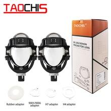 TAOCHIS 3.0 inch 12V 50W 8000LM Bi-LED Auto headlight retrofit High low beam Car Upgrade bi led projector lens for Car Head lamp цена 2017