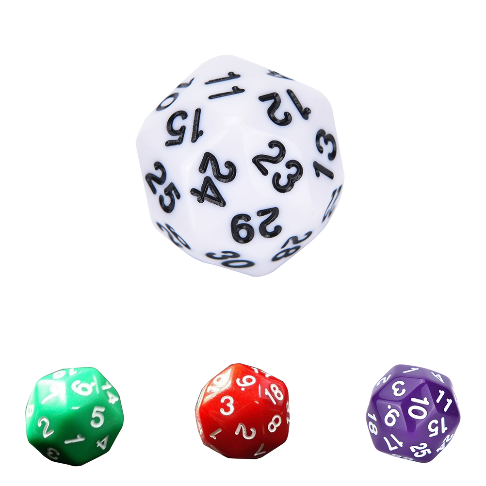 1 шт мульти смолы D30 кости RPG D & шесть непрозрачные Цвета многогранные для сторон кости Pop для игры
