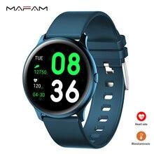 MAFAM KW19 Super Cool Cyan Smart Watch Blood Pressure Heart Rate Monitor IP68 Waterproof Multi-Languages 7 Modes Active Watch стоимость