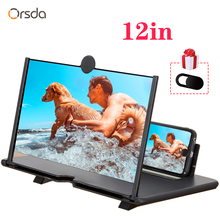 Orsda 12 inch HD 3D Mobile Phone Screen Amplifier Universal Screen Amplifier Video For Iphone Samsung Huawei Millet Phone Stand