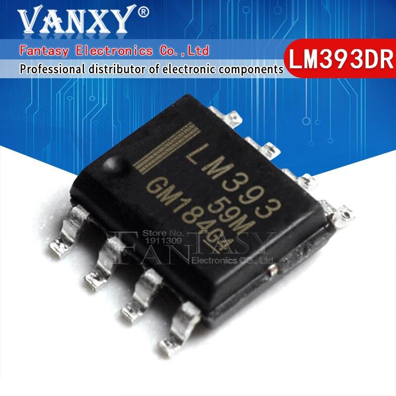 100PCS LM393DR SOP8 LM393 SOP-8 LM393DT LM393DR2G SOP SMD novo e original IC