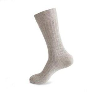 Image 2 - 12PCS = 6 זוגות 46, 47,48, 49,50 איחוד אירופי בתוספת גודל ארוך מוצק צבע גרבי גברים