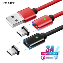Magnetic Micro USB Fast Charging Type C Cable Magnet Charger Data Charge Wire for iphone Samsung s9 Mobile Phone Cable USBC Cord все цены
