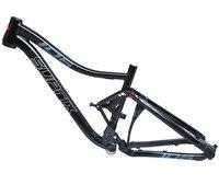 الكامل الأخير تعليق الألومنيوم إطار سبائك MTB الجبلية DH الدراجات دراجة إطار 26/27. 5er * 17 15.5 بوصة الإنحدار دراجة جزء-في إطار دراجة من الرياضة والترفيه على