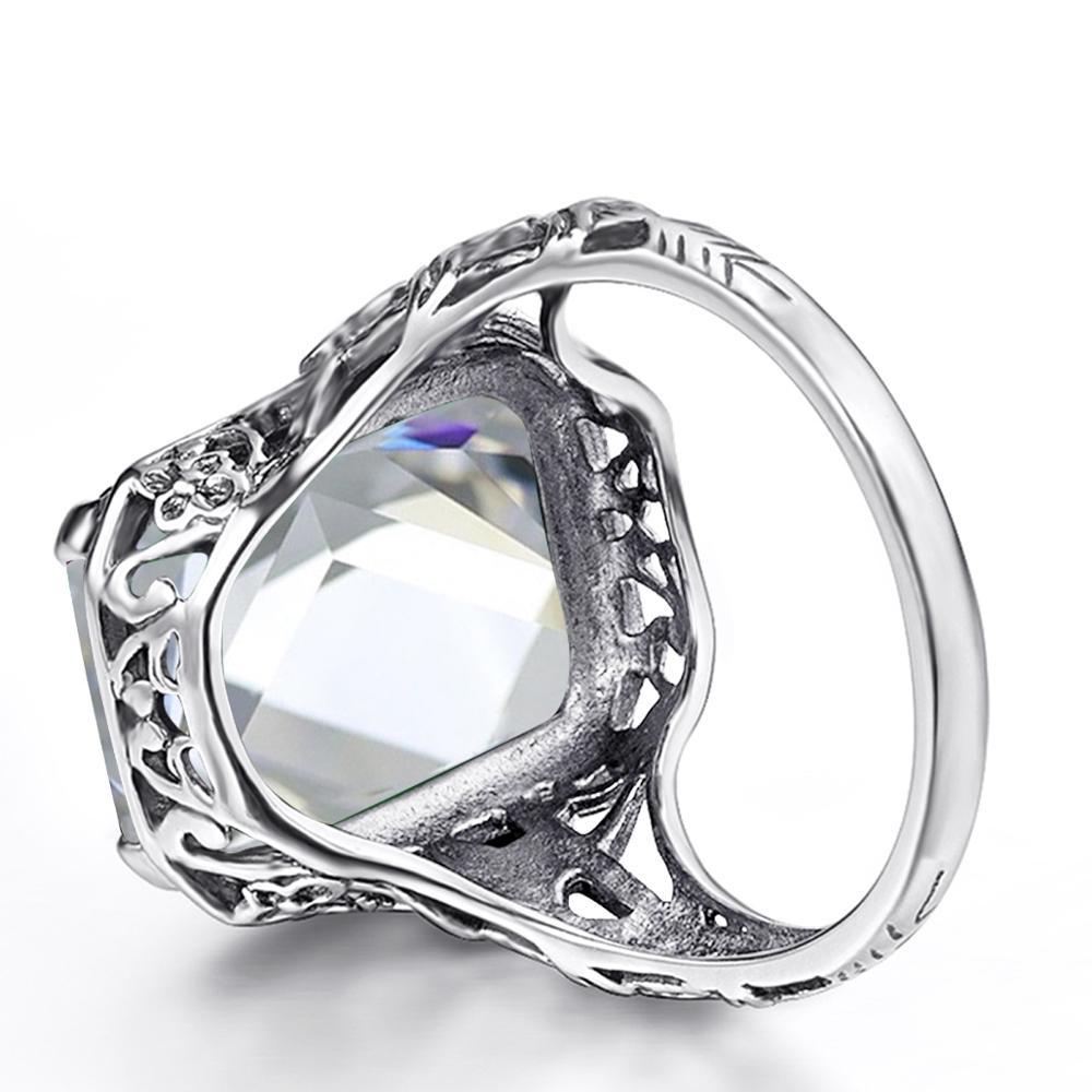 Серебряное кольцо для женщин Свадебные обручальные кольца прямоугольник