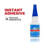 1 × لاصق فوري 401 عالية القوة سطح غير حساس سوبر الغراء لاصق فوري 20g| |   -